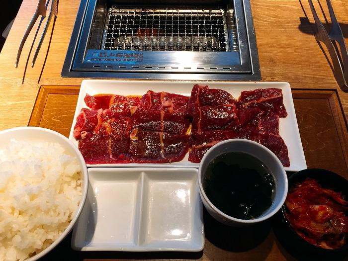 ミスジ&ハラミセット(¥1300税込)を注文