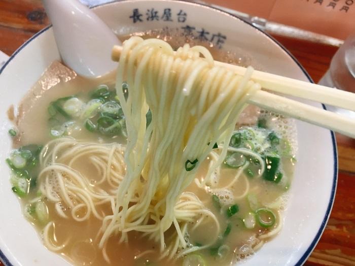 「長浜屋台 一心亭 本店」でラーメンを食べた感想3