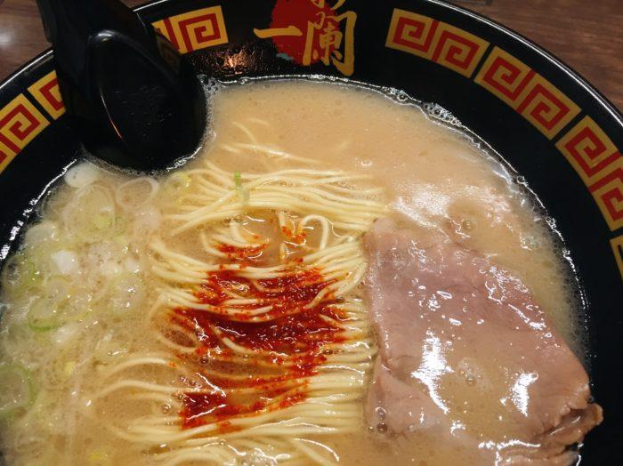 天然とんこつラーメン(¥890税込)を食す